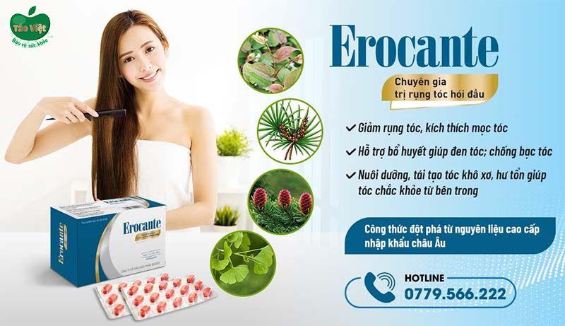 Erocante giúp tóc khỏe đẹp