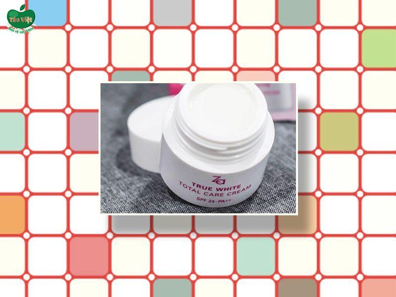 Kem dưỡng trắng da Za True White Total Care Cream