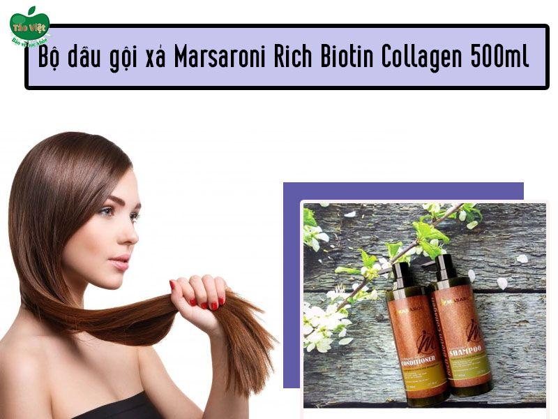 Bộ dầu gội xả Marsaroni Rich Biotin Collagen 500ml