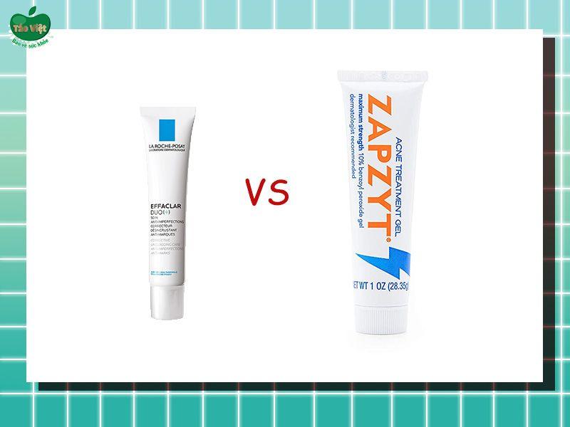 So sánh Zapzyt với kem chấm mụn của La Roche Posay