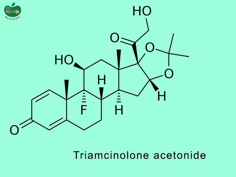 Cấu trúc hóa học của Triamcinolone acetonide