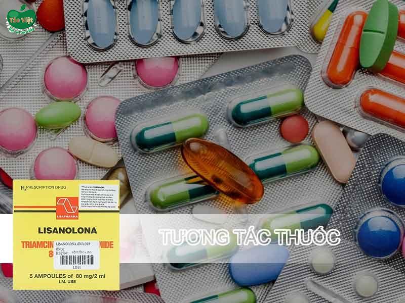 Tương tác thuốc của Lisanolona