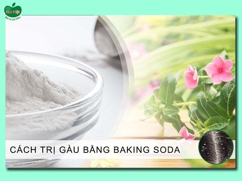 Cách trị gàu bằng baking soda