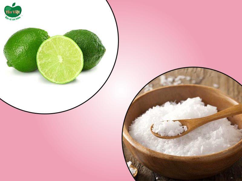 Kết hợp muối và chanh trị nấm da đầu