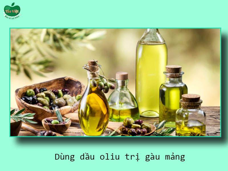 Dùng dầu oliu trị gàu mảng