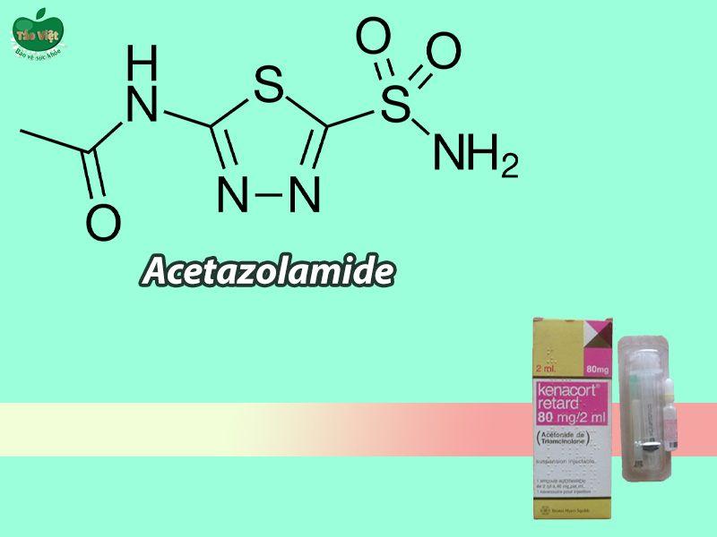 Kenacort Retard tương tác với thuốc Acetazolamid
