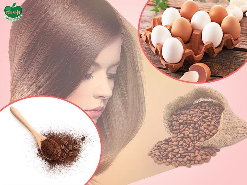 Cách nhuộm tóc bằng cà phê và trứng gà