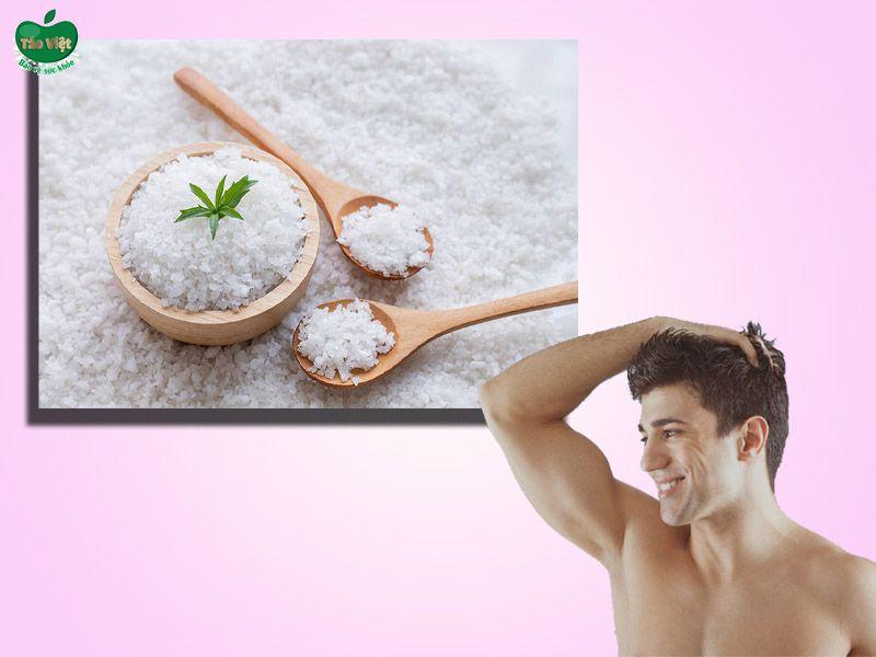 Công thức trị gàu cho nam bằng muối