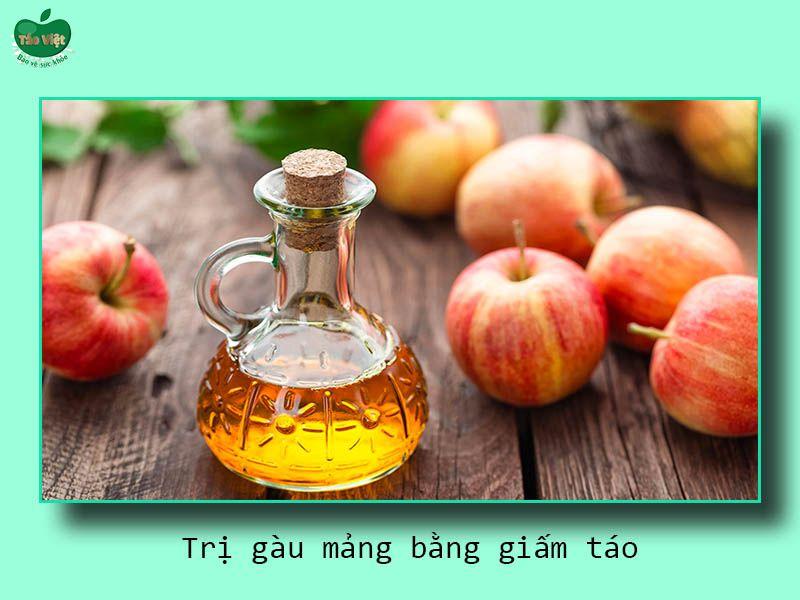 Trị gàu mảng bằng giấm táo
