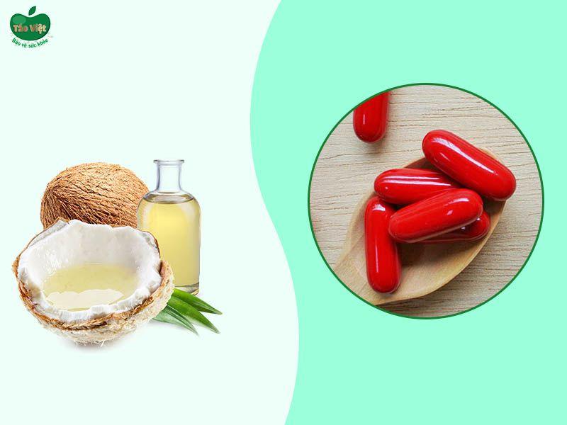 Ủ tóc bằng dầu dừa và vitamin B1 giúp tóc mọc nhanh