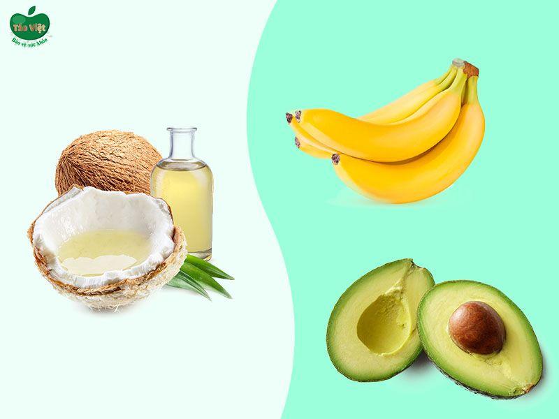 Công thức giảm rụng tóc từ dầu dừa, bơ và chuối