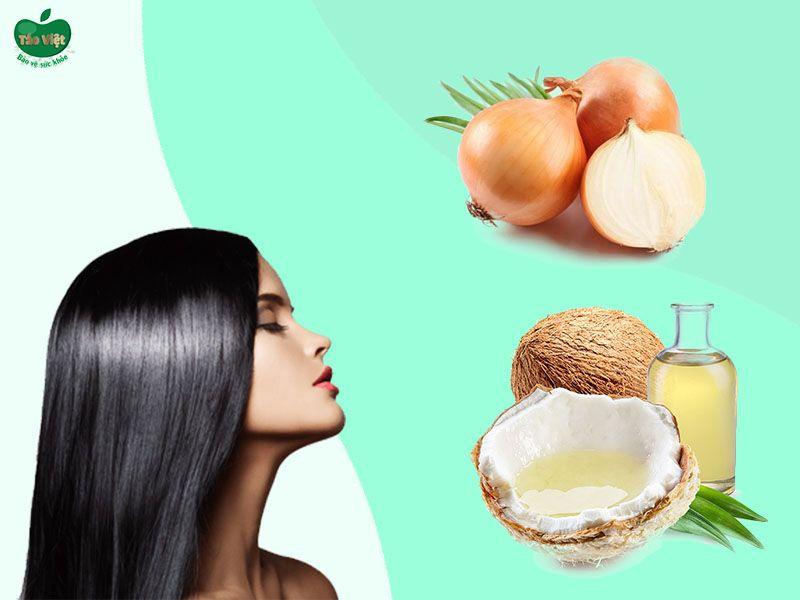 Giảm rụng tóc bằng dầu dừa và hành tây