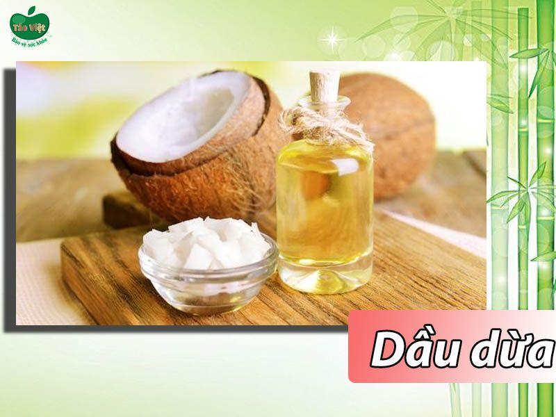 Trị rụng tóc nhanh chóng bằng dầu dừa