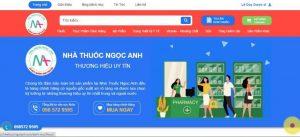 Website nhà thuốc Ngọc Anh